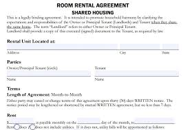 Room Rental Contract Room Rent Format Magdalene Project Org