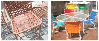 restoration outdoor furniture. Allied Offers A Huge Assortment Of Vinyl Straps, Fabric, And Powder Coating Color Choices: Restoration Outdoor Furniture