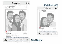 personalised instagram frames selfie frames printed