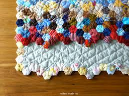 A Hexagon Quilt Finish: Hexistential - Michele Made Me & Hand-quilted… Adamdwight.com