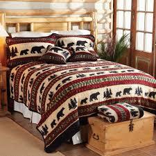 stylish cedar run fleece bed sets cabin bedding sets designs