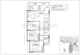 2 bhk 700 sq ft apartment floor plan