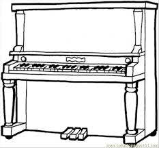 Small Picture Piano Coloring Page Free Instruments Coloring Pages