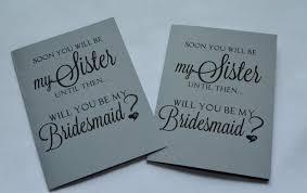 law bridesmaid card sister to be card