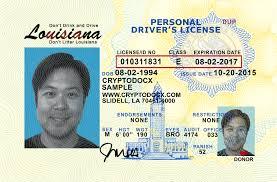 Driver Uv Louisiana License Holograms Markings