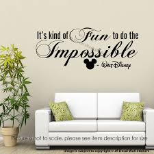 Wall Decal Size Chart Details About Its Kind Of Fun To Do The Impossible Walt Disney Wall Stickers Quote Wall Decal