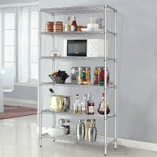 kr026 6 tier heavy duty wire storage shelving rack organizer adjule chrome metal shelf