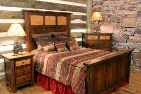 Small Rustic Bedroom Rustic Western Bedroom Furniture Varnished Log Wood King Size Bed