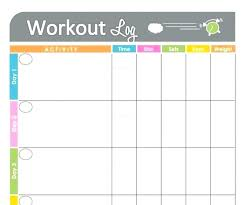 Exercise Logs Template Free Printable Food Diary Template Tracker Worksheet Weekly How To
