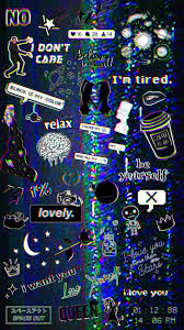 Iphone Trippy Dark Aesthetic Wallpaper