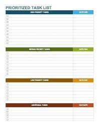 Master Task List Template Printable To Do List Checklist