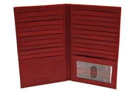 genuine leather large credit card holder case checkbook men womens 20 card slots com