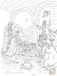 Small Picture Shepherds Come to See Baby Jesus coloring page Free Printable