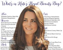 middleton what s in kate s royal beauty bag