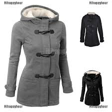 Hihappyhour <b>Plus Size Double</b>-<b>breasted</b> Winter Coat Women Wool ...