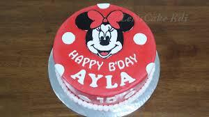 Kue Ulang Tahun Anak Dekorasi Kue Ultah Karakter Minnie Mouse 1