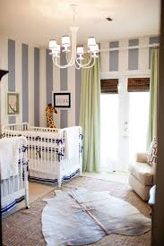 Striped Bedroom Curtains Boy Twin Baby Bedrooms With Striped Walls And Chandelier And Green