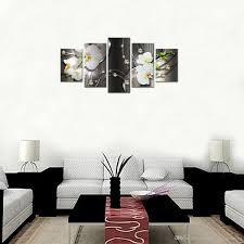5 pieces canvas painting white orchid flowers jpg on white orchid framed wall art with best canvas painting white orchid flowers wall art painting diamond