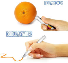 This smart pen's ink changes based on whatever color you scan ...