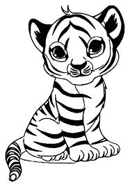 50 bức tranh tô màu con hổ dũng mãnh nhưng cũng không kém phần đáng yêu  dành cho các bé tô mà... | Trang tô màu, Sách tô màu, Đang yêu