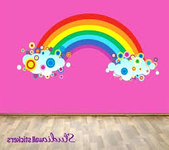 things you should know about large rainbow wall stickers unicorn decals decal art baby friendly rain
