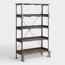 Iron industrial furniture Rustic Emerson Shelving Ebay Industrial Furniture Rustic Industrial Chic Furniture World Market