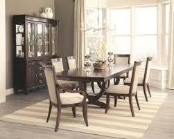 coaster alyssa 7piece trestle dining room set in dark cognac 7 piece dining room set r20