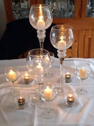 opns wher floatng wine glass centerpieces for weddings wedding table