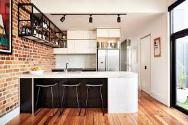 Industrial Kitchen Flooring Industrial Kitchen And Versatile Family Room Redefine The