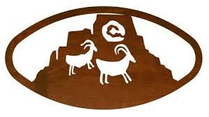 sun goat petroglyph 22 oval southwest metal wall art on large southwest metal wall art with sun goat petroglyph 22 oval southwest metal wall art inspired by