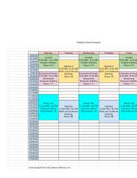 weekly schedule example sample weekly class schedule wikihow