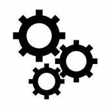 歯車シルエット イラストの無料ダウンロードサイトシルエットac