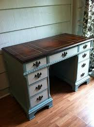 diy furniture refinishing projects. Reserved For Ann. Vintage Desk With Leather Top - Desk, Painted Furniture, Diy Furniture Refinishing Projects