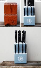 upstyle an old knife block pic for 28 diy kitchen decorating ideas on a