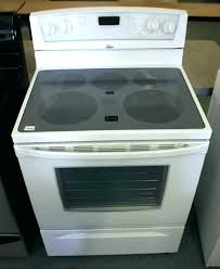 frigidaire flat top stove frigidaire glass top stove self cleaning