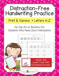 Distraction-Free Print & Cursive Handwriting Practice Bundle with ...
