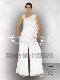 online get cheap white wedding pant suits for bride aliexpress amp1043 mother of the bride pant suits white georgette two piece chiffon outfit for the beach wedding