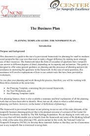 Nonprofit Business Plan Template Download Non Profit Business Plan Template For Free