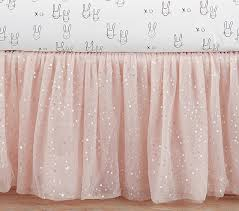 Crib Skirt Pattern Fascinating The Emily Meritt Sparkle Tulle Crib Skirt Pottery Barn Kids