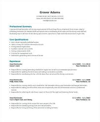 Bartender Resume Description Bartender Resume Example Resume For
