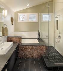bathrooms small bathroom with tiles bathtub and small shower space also black bathroom vanity cabinet