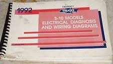 s service manual 1992 chevy s 10 truck electrical diagnosis wiring diagrams service manual
