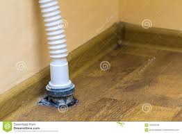Sewer Drain Pipe Under The Kitchen Sink Stock Image Image Of