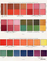 1940s Colour Chart In 2019 Color Inspiration Color Colours