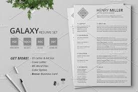 Modern Typographic Resume Set Resume Cv Set Galaxy By Typography Prime On Mywpthemes_xyz Best