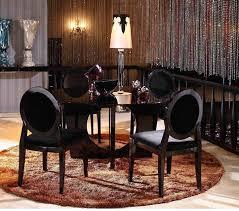 round glass dining room sets. 8929 Armani Xavira Round Glass Dining Table Room Sets