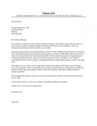 Letter Writing Template Primary New Teacher Cover Letter Format With