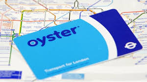 oyster pre pay travelcard on top of a london underground map
