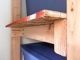 small overhang on shelves of shed shelving unit