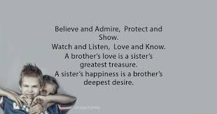 Brother Love Quotes Awesome Sister's Happiness Brother's Love Quotes